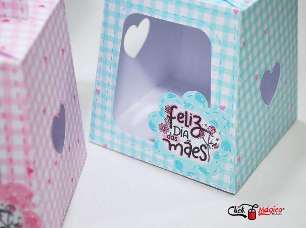 caixa para brindes Dia das Mães