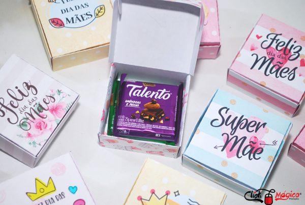caixinha para chocolate talento dia das mães