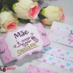 faixa para chocolates caseiro dia das mães