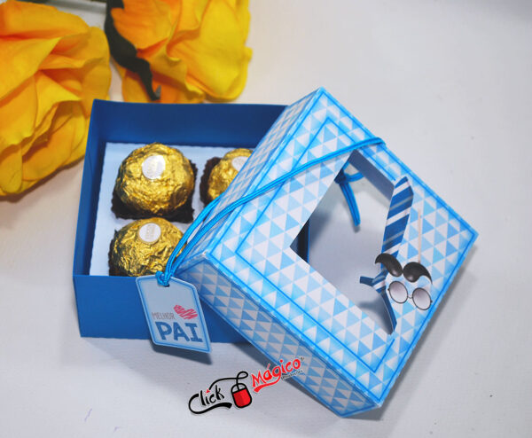 caixa para 4 doces Dia dos pais