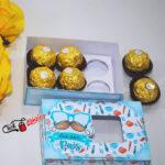 caixa para 6 doces Dia dos pais