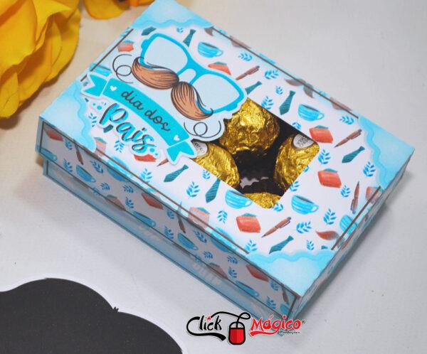 caixa para 6 doces personalizada dia dos pais