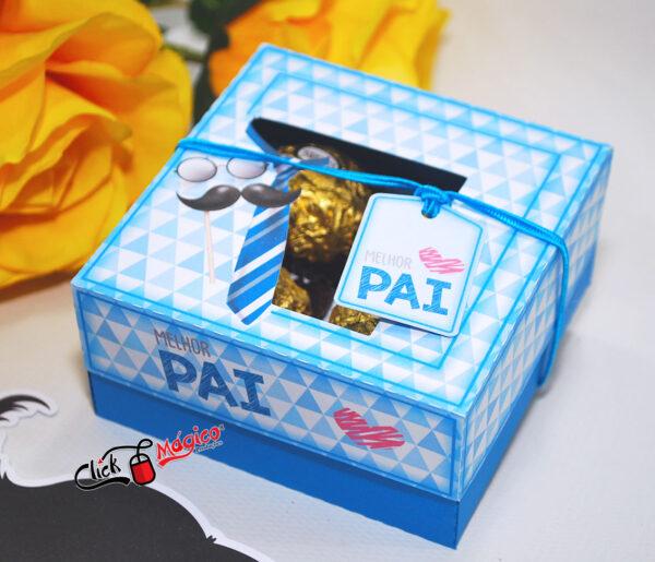 caixa personalizada para 4 doces Dia dos pais