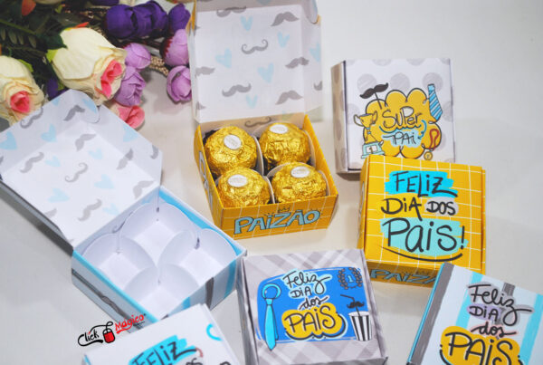 18 caixa para doces dia dos pais