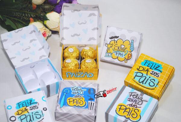 18 caixinha para 4 doces dia dos pais