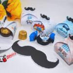 5 caixinha bigode para 1 bombom Dia dos pais