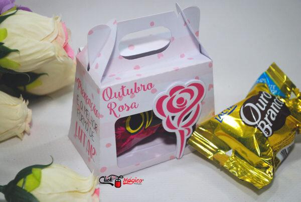 1 caixinha para bombom Outubro Rosa