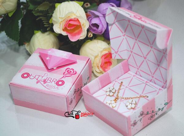 4 caixinha para brindes Outubro Rosa