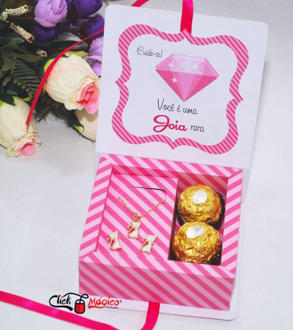 5 caixinha porta joias Outubro Rosa
